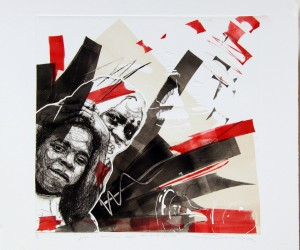 Sizwe Khoza 2 drypoint mono lithographic print - Life is beautiful don't you think so too (1).jpg