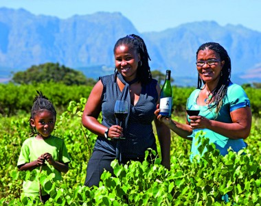 Lebo Thagane and her mother, Malmsey Rangaka (CEO of M'hudi Wines)
