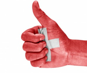 Swiss thumbs up